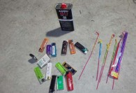 ライター、ライター用ガス、花火